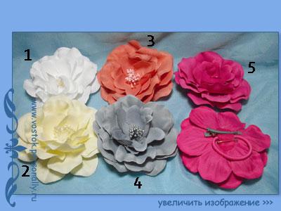 Цветы на резинки своими руками фото