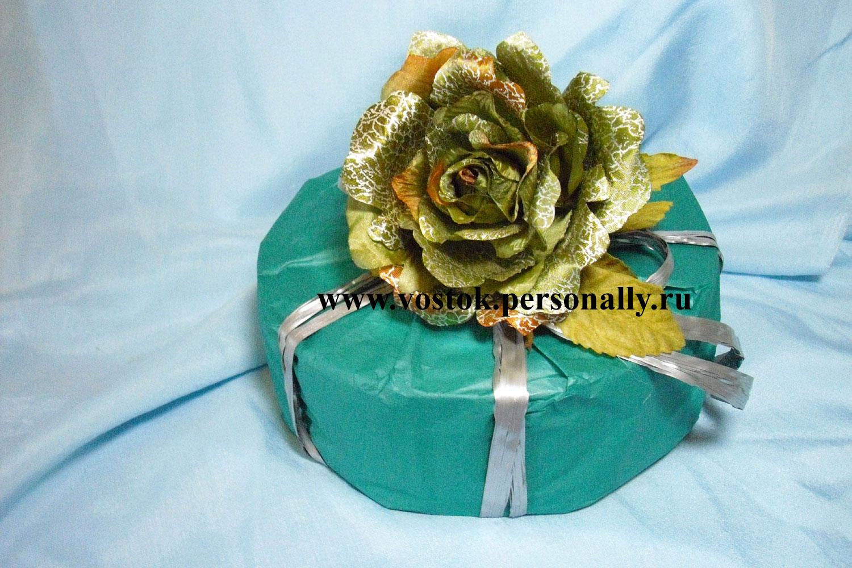 Упаковка подарка цилиндрической формы 44