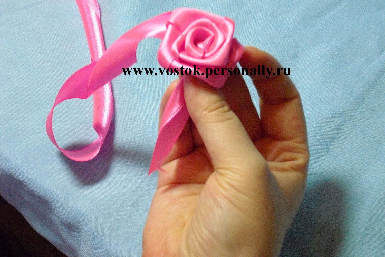 погибшим детям розы из атласной ленты 5 см новый